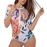 Q&M Mujer Proteccion Solar Bañadores Verano Impresión Surf Tankinis te Mantiene Seco