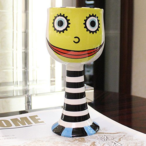 LRW Fashion Personality Ice Cream Cups Painted Goblet Cartoon Ceramic Cups Creative Champagne een glas rode wijn Cups Yellow Coffee Cups