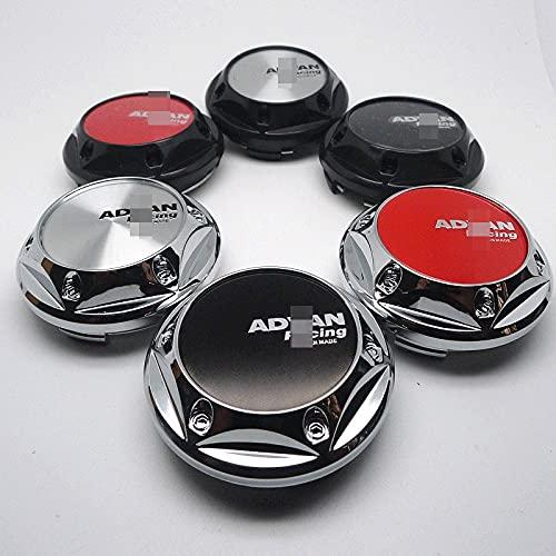 TUQYED Tapa del Centro de la Rueda para 4pcs 68mm Compatible con Advan Racing Wheel Center Cap Hubs Car Styling Emblem Badge Logo Llantas Cubierta 45mm Pegatinas Accesorios ABS (Color : E)