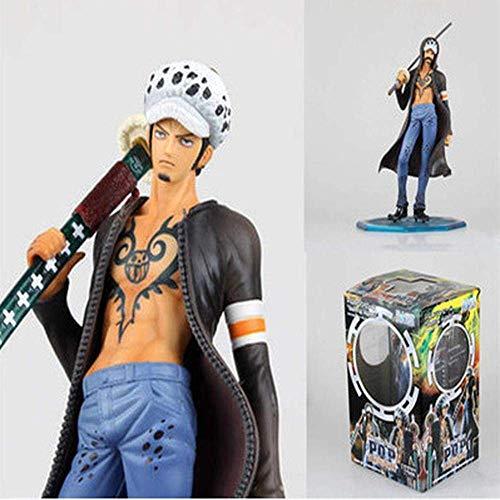 SXXYTCWL One Piece Zwei Jahre später Stehen Stance Trafalgar Law Tattoo Anime Modell Animierte Zeichen Zeichen Statue Sammlerstück Spielzeug jianyou