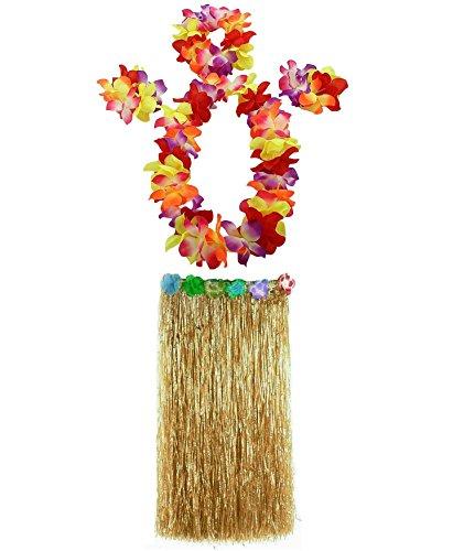 AniiKiss 1 Set 80cm Adult Party Hawaii Dress Hula Grass Skirt, Festucine, 80 cm