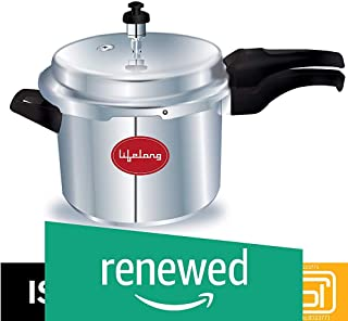 (Renewed) Lifelong Outer Lid Pressure Cooker, 5 Litre (ISI Certified, Induction and Gas Compatible)