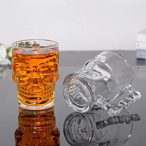 TUOP Schedel Transparant Huishoudelijk Bier Vodka Liqueur Tequila Brandy Bar Wijnglas