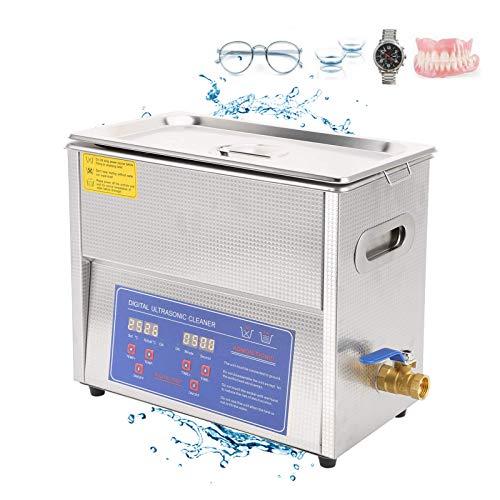 Life Accessories 6L Ultrasonic Cleaner Professional Sonic Cleaner con timer digitale e riscaldatore per gioielli Diamanti Occhiali Orologi Protesi Strumenti Piccole parti metalliche (UK)