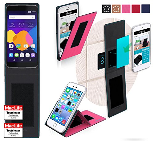 reboon Hülle für Alcatel Idol 5S Tasche Cover Case Bumper | Pink | Testsieger
