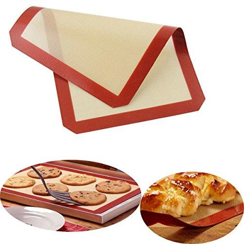 Bazaar Honana 40x30cm Silicone Baking Mat Fibre de verre Non-Stick Baking Cake Cookie Pain Pad