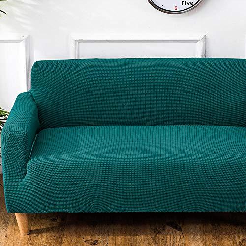 flqwe Super Stretch Sofa Schonbezug Sofabezug,Verdickte Stretch-Sofabezug, All-Inclusive-Universalsand freigegeben, 1 Stück Doppel (Länge 145-185 cm) _Emerald