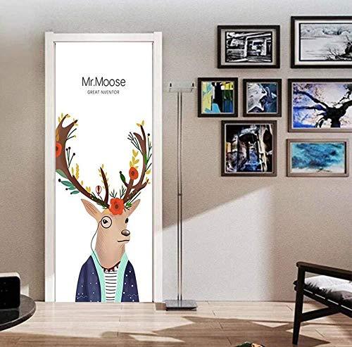 77 x 200 cm prosta naklejka na drzwi do salonu sypialni dziewczyny plakat PCW wodoodporny aktualizacja aplikacja dekoracyjna
