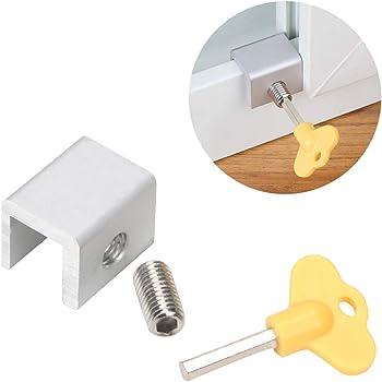 Runy - Cable de Seguridad para Ventanas, de Aluminio, para niños, con Cerradura de Seguridad para Puerta, Ventana, Tope Deslizante: Amazon.es: Hogar
