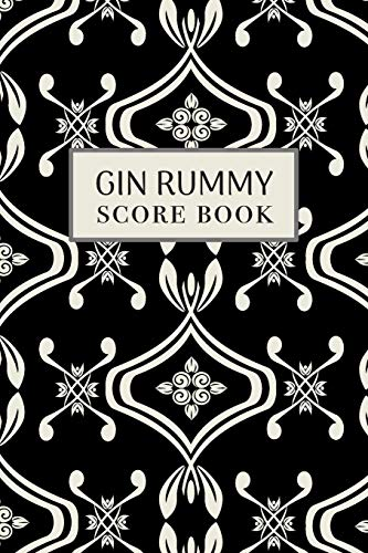 Gin Rummy Score Book: 6x9, 110 pages, Keep Track of Scoring Card Games Black