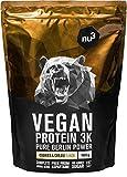 nu3 Vegan Protein 3K Shake - 1 Kg Cookies & Cream Blend - veganes Eiweisspulver aus 3-Komponenten-Protein mit...