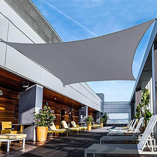 Shade&Beyond Sun Shade Sail Rectangle Canopy 10' x 10' Sail Shade Dark Grey Sun Shades for Patios