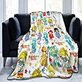 Classic Rainbow Brite and Friendsern Ultra-Soft Micro Fleece Blanket Home Decor Warm Anti-Pilling Flannel Throw Blanket 60'' x 50'' for Couch Bed Sofa