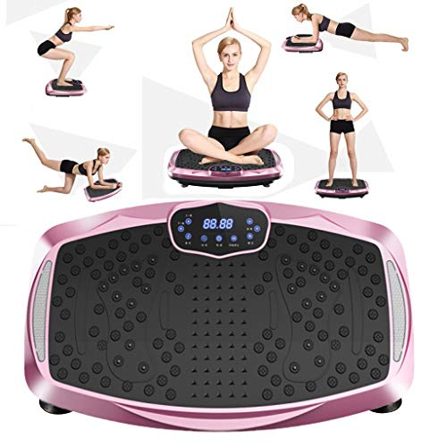Tengma 3D 500W Fitness Vibration Plate Exercise Machine - Dual Motor Oscillation+Lateral, Full Whole Body Shaper Viberation Machine with Bluetooth Music for Home, Weight Loss & Shaping
