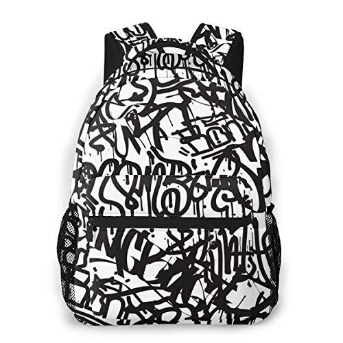 Laptop Rucksack Daypack Schulrucksack Backpack Graffiti Tags Spray Letter Paint, Business Taschen Freizeit Rucksack Arbeits Schultasche für Herren Männer Schüler Schule