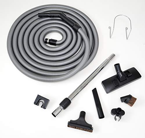 Genialvac Standard-Schlauch-Set für Zentralstaubsauger für Saugdosen 36-38mm (Länge 7,6m)