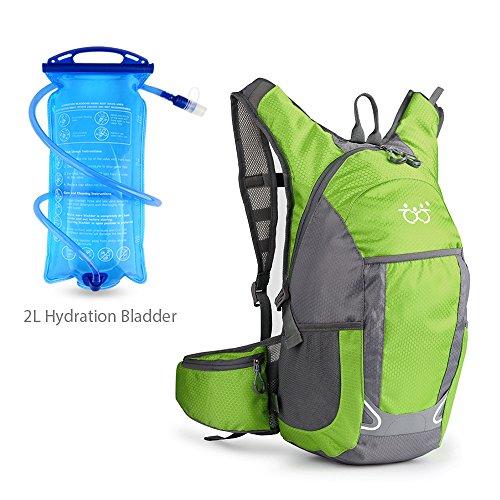 TXJ Sac à dos de vélo étanche, vert avec poche à eau, pour homme et femme, 30 L, ultra léger, pour randonnée, extérieur, sport, escalade, camping, équitation, voyage, course