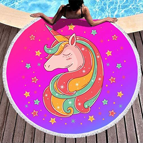 NeiBangM Quaste Beach Blanket Unicorn absorberend tafelkleed sprei zwembad handdoek