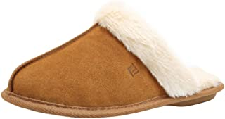 Womens Memory Foam Slippers Faux Fur Lining Slip-on Clog Scuff House Shoes Indoor & Outdoor