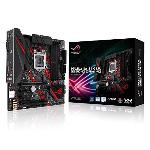 ASUS  ROG STRIX B360-G GAMING V1.0 - Placa base (zócalo Intel 1151, Intel B360 Chipset, 4 x DIMM, Máx. 64 GB, DDR4, 2666/2400/2133 MHz Non-ECC, Un-buffered)