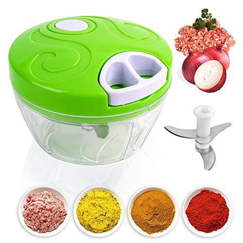 GWXLD Machacador De Ajo para Kitchen, Manual Trituradora Portátil Picadora Alimentos, Fácil De Limpiar