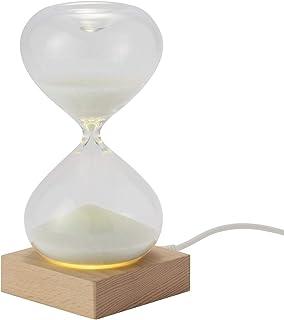 茶谷産業 Fun Science 砂時計 LEDライト付 15分計 333-114, ブラウン 高さ155×幅75×奥行75mm