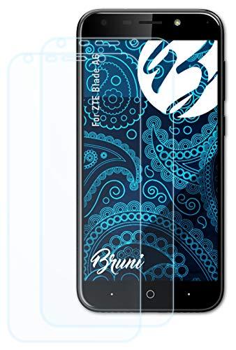 Bruni Schutzfolie kompatibel mit ZTE Blade A6 Folie, glasklare Bildschirmschutzfolie (2X)