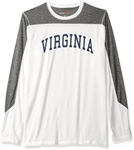 Camp David NCAA Sporster Herren Paneelen Long Sleeve Tee, Herren, Sportster, weiß, XX-Large