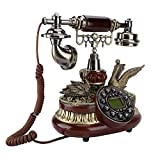 Wired Telephone, with Time Display Function, Corded Telephone, FSK/DTMF Dual System for Living Room...