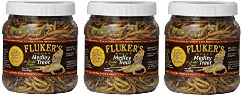 Fluker Labs SFK72021 Bearded Dragon Medley Treat Food, (3 Pack of 1.8-Ounce)
