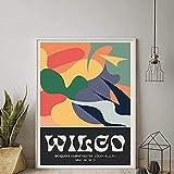 Poster Wilco gig Poster Klassische Wandkunst Vintage Bunte