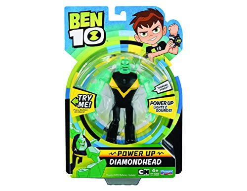 Ben 10 Deluxe Power Up cifras – Diamond Head , Modelos/colores Surtidos, 1 Unidad