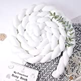 Crisschirs Cushion with Chicken Doll Soft Knot Pillow Handmade Soft Cushion Decor for Bedroom (White01)