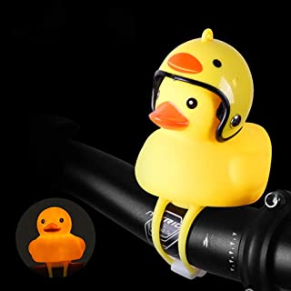 Sodoop Bicycle Bell Light, Cartoon Duck Head Light,Shining Duck Bicycle Handlebar Bells Accessories, Cute Kids Bike Horn,Bicycle Lights Bell Squeeze Horns for Toddler Children Adults Cycling