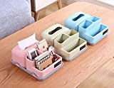 YXSJLT Tissue Box Covers Tissue Holders Tissue Box Living Room Pumping Box Multifunctional Pen Holder Coffee Table Desktop Remote Control Tissue Pumping Paper Storage Box-Green