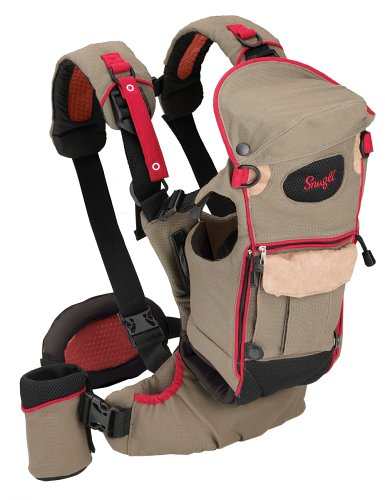 Evenflo Snugli Serenade Soft Carrier, Olive With Red (Discontinued by Manufacturer)