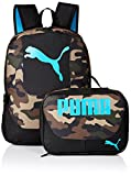 PUMA Boys' Little Backpacks and Lunch Boxes, Camo/Blue Kit, Youth
