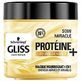 Schwarzkopf - Gliss - Masque Cheveux Soin Miracle Nourrissant 4 en 1 - Cheveux secs/abîmés - 400ml