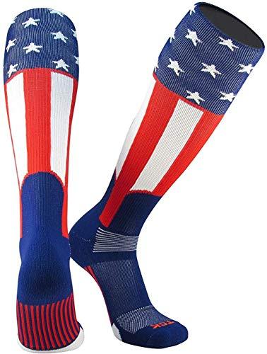 TCK Baseball Stirrup Socks Uncle Sam (Red/White/Blue, Small)