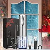 Anpro Apribottiglie Elettrico Set 4 PCS - Cavatappi Vino Elettrico Ricaricabile USB Professionale, Versatore, Taglia Foglio di Alluminio, Tappo per pompaggio del Vuoto, per Amanti del Vino, Natale
