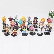 Dragon Ball Z Figuras de acción Juguetes 20 unids/Set Son Goku Vetega Majin Buu Freeza Beerus WHIS Mark Karin Gotenks