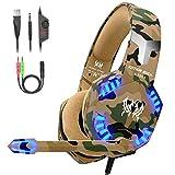 VersionTECH. Auriculares Gaming con Microfono de Diadema-Bass OverEar...