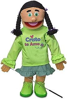 "25"" Cristo Te Ama, Hispanic Girl, Full Body, Christian Ministry Puppet"