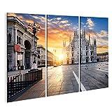 Bild auf Leinwand Dom bei Sonnenaufgang, Mailand, Europa.