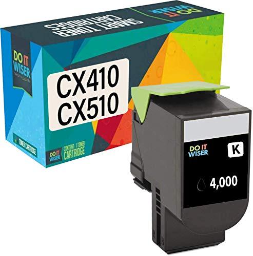 Do it Wiser Kompatible Toner als Ersatz für Lexmark CX410de CX510de CX410dte CX410e CX510dthe CX510dhe 80C2HK0 (Schwarz)