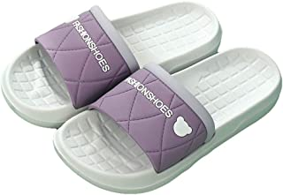 Ladies Bath Slippers, Summer Indoor PVC Non-Slip Slippers, Swimming Pool Open-Toe Breathable Slippers, Outdoor Beach Sandals