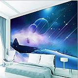 MAZF 3D Papel pintado Dream Sky Universe Foto Wallpaper murales Sala de estar Sofá de los niños Habitación 3D Papel pintado 1 Plaza Precio unitario