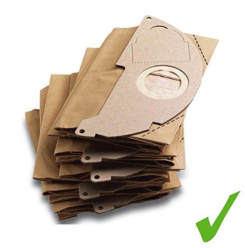 Praktische set. 5 x ORIGINAL Systafex® stofzuigerzakken papieren filterzakken voor Kärcher MV 2 WD 2 etc.