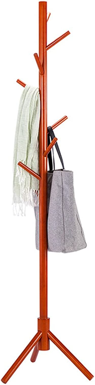 Fashion Coat Rack Disassembly Hangers Solid Wood Coat Rack Floor Landing Creative Living Room Entrance Coat Rack Size  175x47x47cm Durable (color   Brown)