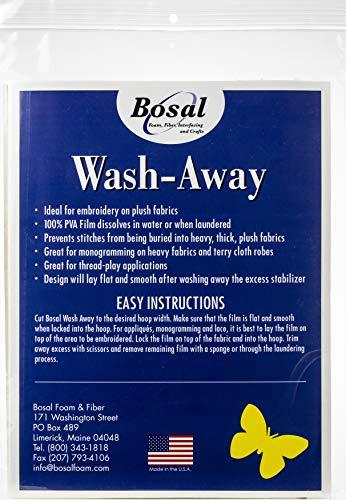 Bosal Stick-Stitch-n-Rinse wash-Away stabilizer-8.5-inch X 27,9cm 10/Pkg, andere, Mehrfarbig